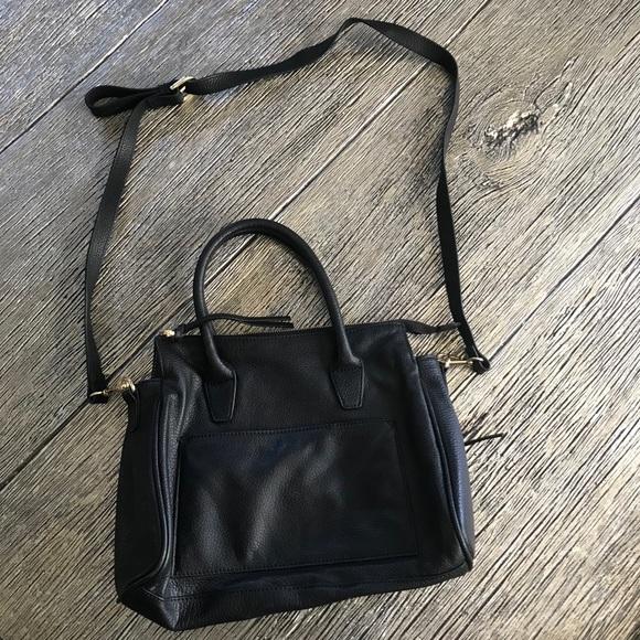 M London Leather Black Crossbody Bag